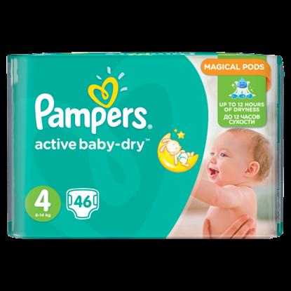 Kép Pampers Active Baby-Dry Pelenka 4-es Méret (Maxi), 46 Darabos Kiszerelés