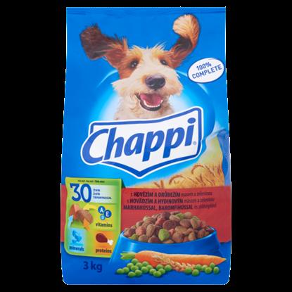 Kép Chappi teljes értékű eledel felnőtt kutyák számára marhahússal, baromfihússal és zöldségekkel 3 kg