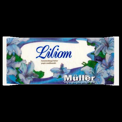 Kép Müller Liliom fehér papír zsebkendő 3 rétegű 100 db