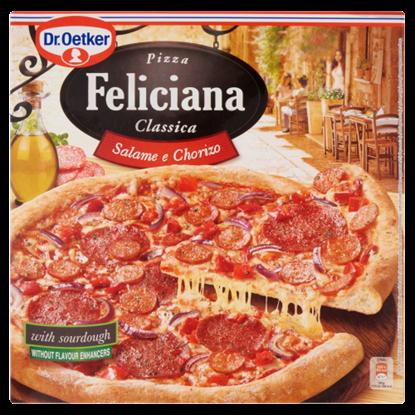 Kép Dr. Oetker Feliciana gyorsfagyasztott pizza Chorizo szalámival és szalámival 320 g