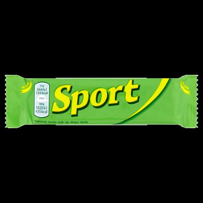 Kép Sport étcsokoládéval mártott rumos ízű kakaós szelet 31 g