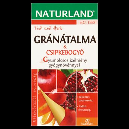 Kép Naturland Fruit and Herb gránátalma & csipkebogyó gyümölcstea 20 filter 40 g
