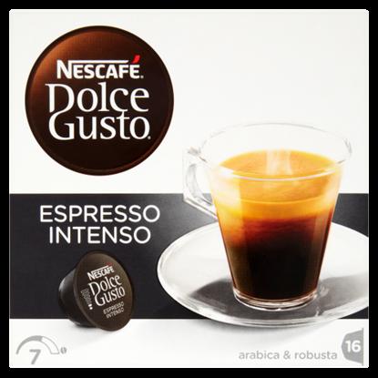 Kép Nescafé Dolce Gusto Espresso Intenso őrölt pörkölt kávé 16 db 128 g