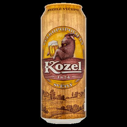Kép Velkopopovický Kozel világos sör 4% 0,5 l