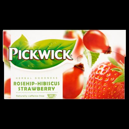 Kép Pickwick Herbal Goodness eperízű csipkebogyó tea hibiszkusszal, eperdarabokkal 20 filter 50 g