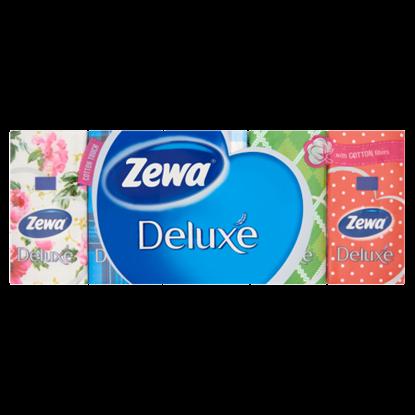 Kép Zewa Deluxe illatmentes papír zsebkendő 3 rétegű 10 x 10 db