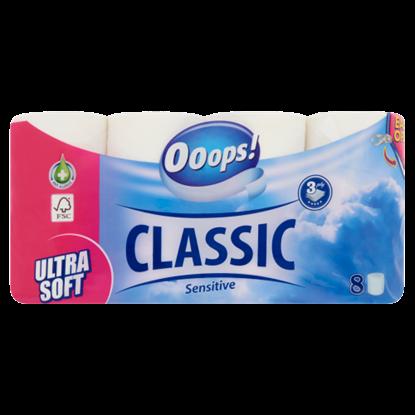 Kép Ooops! Classic Sensitive toalettpapír 3 rétegű 8 tekercs