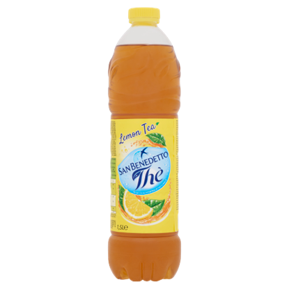Kép San Benedetto citromos ice tea ízű üdítőital cukorral és édesítőszerrel 1,5 l