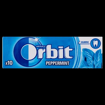 Kép Orbit Peppermint mentaízű cukormentes rágógumi édesítőszerrel 10 db 14 g
