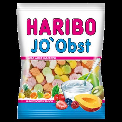 Kép Haribo Jo'Obst gyümölcsízű gumicukorka sovány tejből készült joghurtporral 85 g