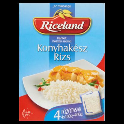 """Kép Riceland Konyhakész rizs """"A"""" minőségű hántolt hosszú szemű  4 x 100 g"""