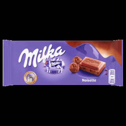 Kép Milka Noisette alpesi tejcsokoládé mogyorómasszával 100 g