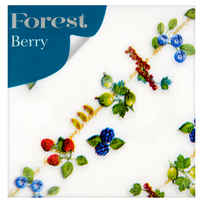 Kép Forest Berry mintás szalvéta 1 rétegű 30 x 30 cm 60 db