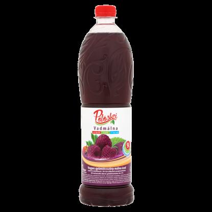 Kép Pölöskei vadmálna vegyes gyümölcsszörp málna ízzel cukorral és édesítőszerrel 1 l