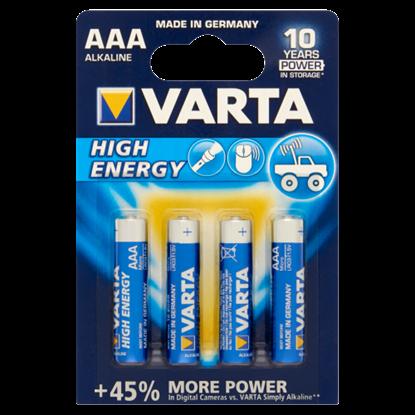 Kép Varta High Energy alkáli mikro elem 4BL