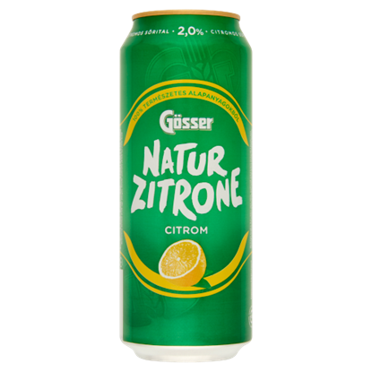 Kép Gösser NaturZitrone citromos sörital 2% 0,5 l