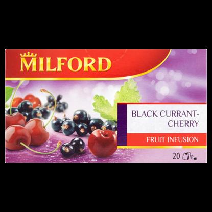 Kép Milford Fruit Infusion fekete ribiszke-cseresznye ízű gyümölcstea 20 filter 50 g