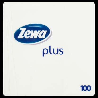 Kép Zewa Plus fehér színű szalvéta 1 rétegű 100 db