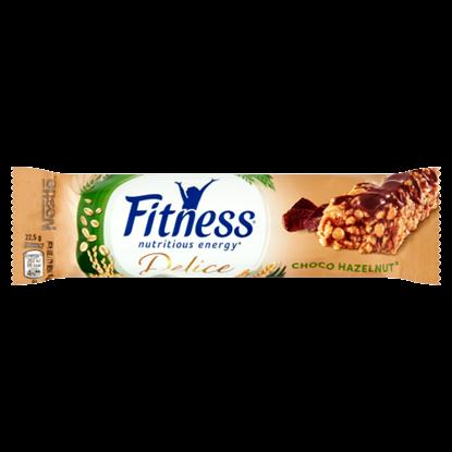 Kép Nestlé Fitness Delice tejcsokoládés mogyoróízű gabonapehely-szelet 22,5 g