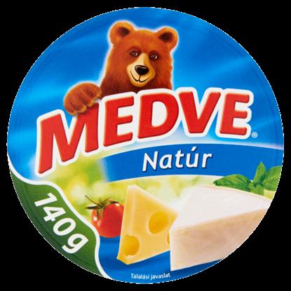 Kép Medve natúr, kenhető, zsíros, ömlesztett sajt 8 db 140 g