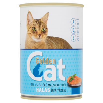 Kép Golden Cat teljes értékű macskaeledel halas ízesítéssel 415 g