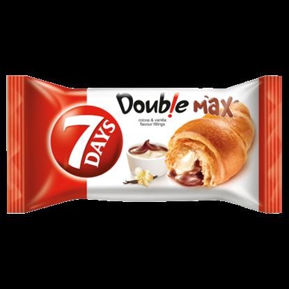 Kép 7DAYS Doub!e Max croissant kakaós és vanília ízű töltelékkel 80 g