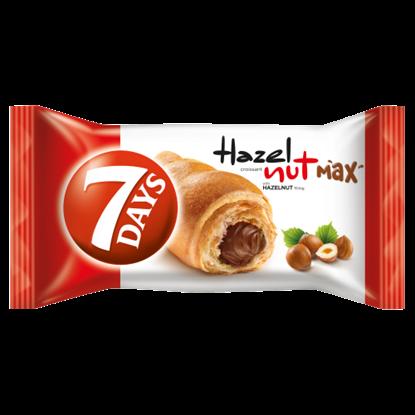 Kép 7DAYS Hazelnut Max croissant mogyorós töltelékkel 80 g