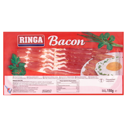 Kép RINGA Szeletelt bacon 150 g