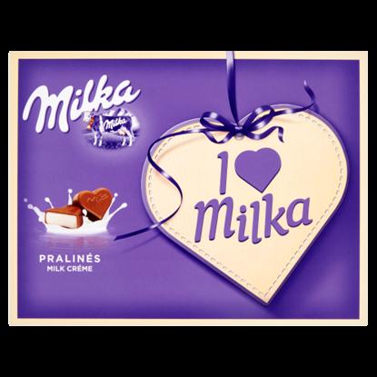 Kép Milka I ♥ Milka alpesi tejcsokoládé praliné tejes krémtöltelékkel 120 g