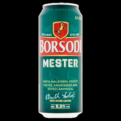 Kép Borsodi Mester minőségi világos sör 5% 0,5 l