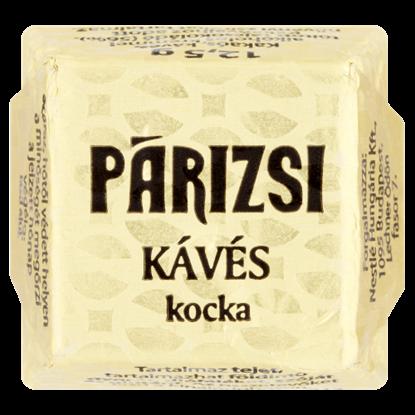 Kép Párizsi Kocka kakaós, kávés, alkoholos krémmel töltött tejcsokoládé 12,5 g