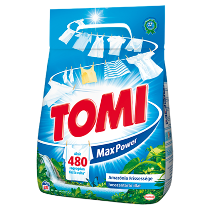 Kép Tomi Max Power Amazónia Frissessége mosószer 20 mosás 1,4 kg