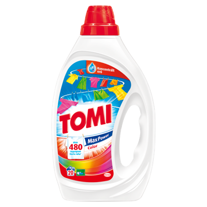 Kép Tomi Max Power Color mosószer 20 mosás 1 l