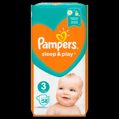 Kép Pampers Sleep&Play, 3-as Méret, 58 db Pelenka, 6–10 kg