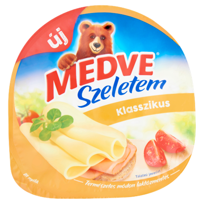 Kép Medve Szeletem Klasszikus natúr, zsírdús, félkemény sajt 125 g