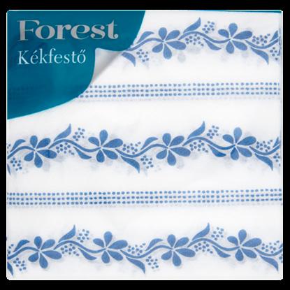 Kép Forest Kékfestő mintás szalvéta 1 rétegű 33 x 33 cm 45 db