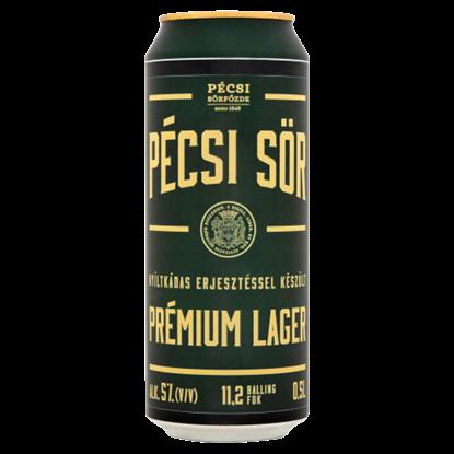 Kép Pécsi Sör Prémium Lager sör 5% 0,5 l