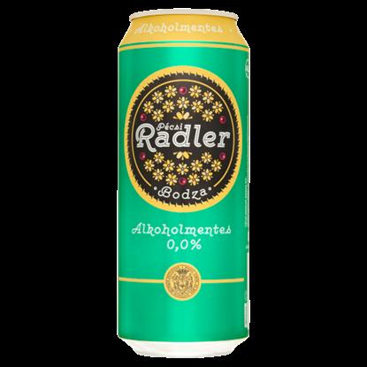Kép Pécsi Radler alkoholmentes világos sör és bodza ízű szénsavas üdítőital keverék 0,5 l