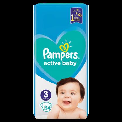 Kép Pampers Active Baby, 3-as Méret, 54 db Pelenka, 6–10 kg