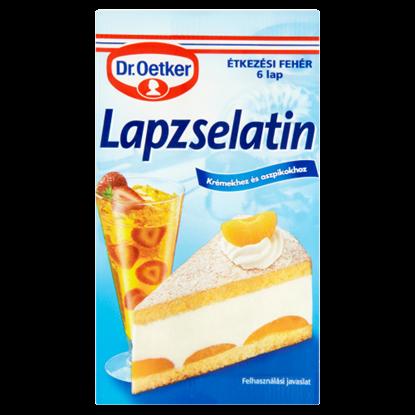 Kép Dr. Oetker Lapzselatin fehér 6 lap 10 g