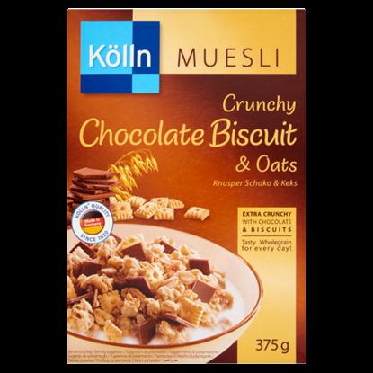 Kép Kölln ropogós teljes kiőrlésű müzli tejcsokoládéval és keksszel 375 g