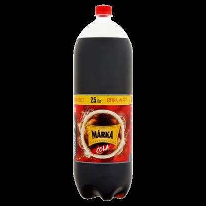 Kép Márka cola ízű szénsavas üdítőital, cukorral és édesítőszerekkel 2,5 l