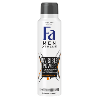 Kép Fa Men Xtreme Invisible Power izzadásgátló deospray 150 ml