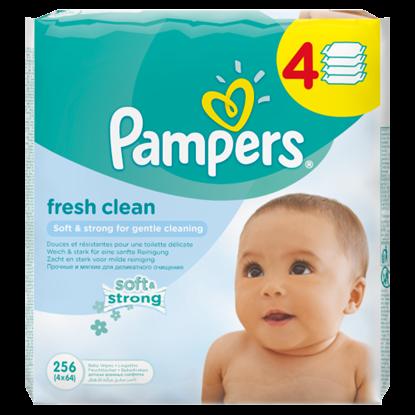Kép Pampers Fresh Clean Babatörlőkendő 4x64 Darabos Kiszerelés