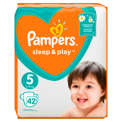 Kép Pampers Sleep&Play, 5-as Méret, 42 db Pelenka, 11-16 kg