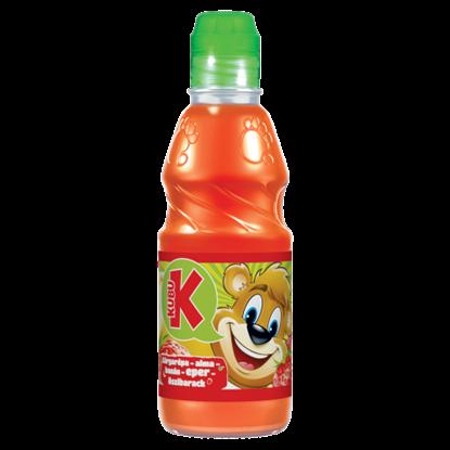 Kép Kubu rostos sárgarépa-alma-banán-eper-őszibarack ital 300 ml