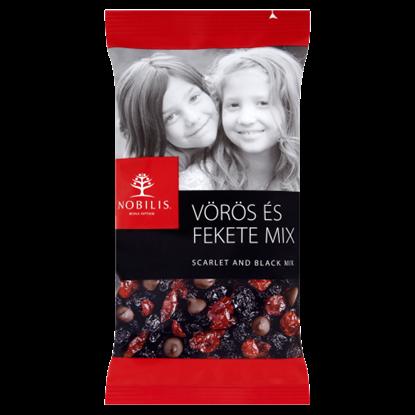 Kép Nobilis vörös és fekete aszalt gyümölcs és étcsokoládé mix 100 g