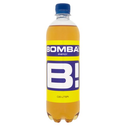 Kép BOMBA! magas koffeintartalmú, szénsavas, tutti-frutti ízű ital cukorral és édesítőszerrel 600 ml