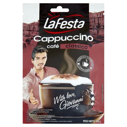 Kép La Festa Cappuccino klasszikus instant kávéitalpor 100 g