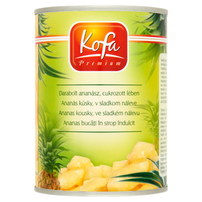 Kép Kofa Premium darabolt ananász, cukrozott lében 565 g